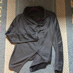 Blank NYC Drape Black Jersey JACKET XS Vegan